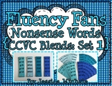 Fluency Fans: Nonsense Words {CCVC Blends: Set 1}