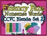 Fluency Fans: Nonsense Words {CCVC Blends: Set 2}