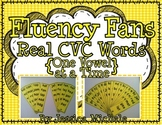 Fluency Fans: Real CVC Words {One Vowel at a Time}