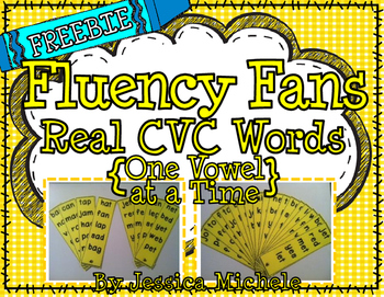 Fluency Fans: Real CVC Words {One Vowel at a Time} FREEBIE