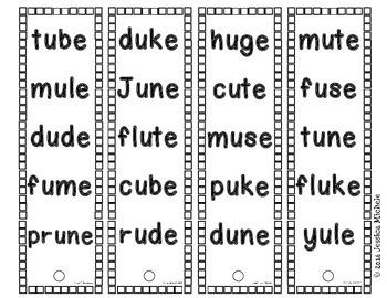 Fluency Fans: Real Words {CVCe}