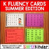 Summer, Kindergarten Fluency, Summer Activities