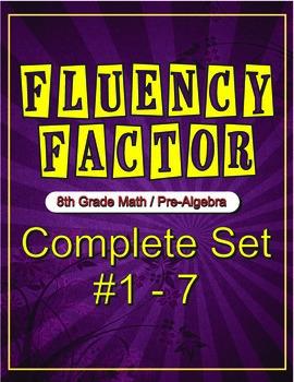 Fluency Factor - 8th Grade Math/Pre-Algebra #1 - 7