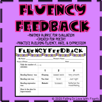 Fluency Feedback Partner Rubric