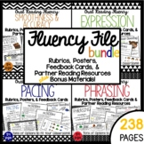 Fluency File Bundle:  Rubrics, Posters, Feedback Cards and Partner Reading
