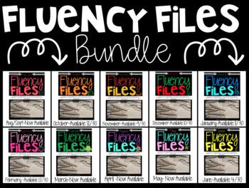 Fluency Files: A YEAR LONG BUNDLE