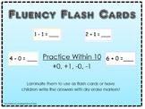 Fluency Flash Cards +0, +1, -0, -1