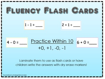 Fluency Flash Cards!!!