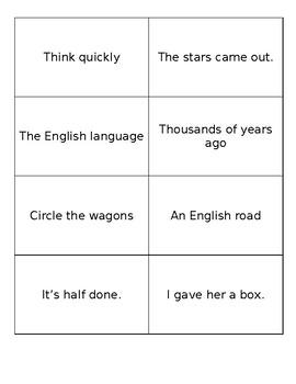 Fluency Flashcards (Fry 500 Words)