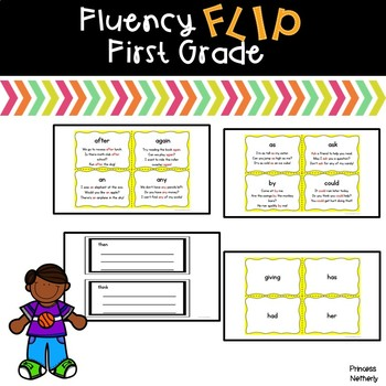 Fluency Flip First Grade Words