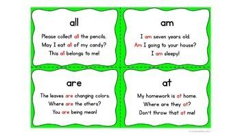 Fluency Flip Primer Words