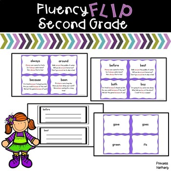 Fluency Flip Second Grade Words
