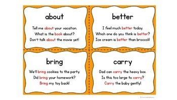 Fluency Flip Third Grade Words