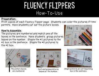 Fluency Flippers {short e}