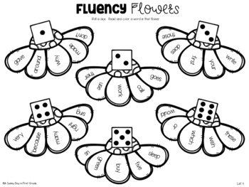 Fluency Flowers {Sight Word Roll & Color}