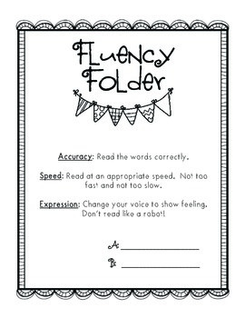 Fluency Folder Cover, Graphs, and Posters!