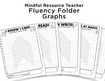 Fluency Folder Graphs Bundle