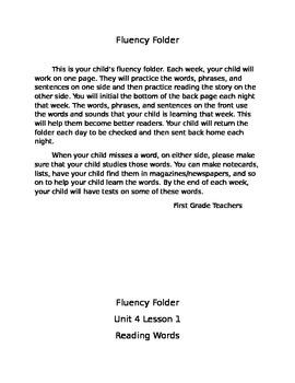 Fluency Folder Unit 4