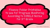 3rd Fluency Folder for Progress Monitoring According to DIBELS Norms