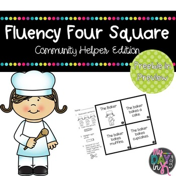 Fluency Four Square: Community Helpers Edition