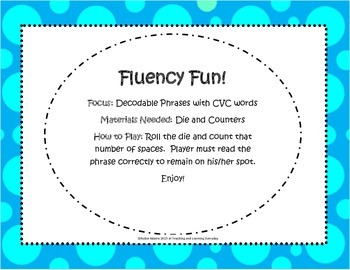 Fluency Fun Bundle: Decodable Phrases with CVC Words