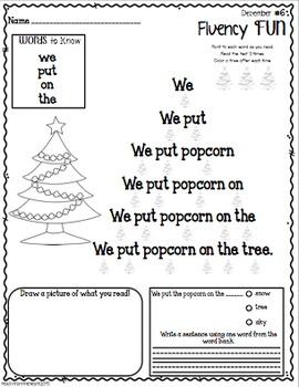 Fluency Fun December Edition