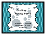 Fry Words Fluency Fun! One Breath Fluency Boxes