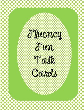 Fluency Fun Task Cards
