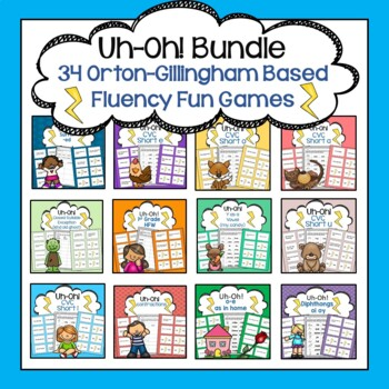 Fluency Fun: Uh-Oh Sentence Reading Game Bundle