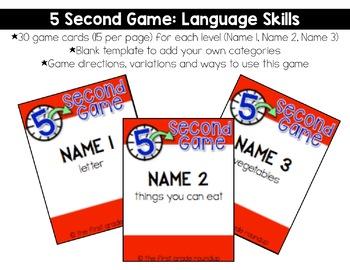 Fluency Practice Games: Language Skills