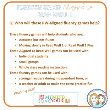 Fluency Games Aligned to Read Well {39 game boards, 383 Fry Words, 1,500+ words}