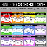 A BUNDLE of Math and Literacy Skill Practice Games