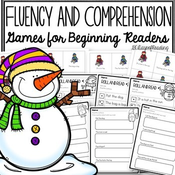 Winter Fluency Games for Beginning Readers