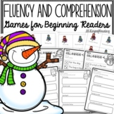 Snowman Comprehension and Fluency Activities for CVC Words