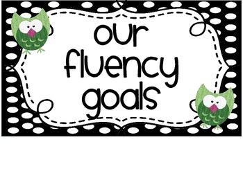 Fluency Goals Poster