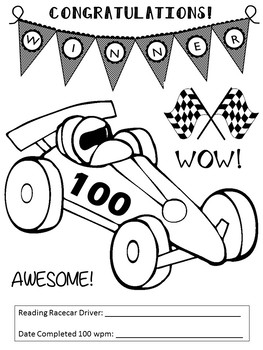 Fluency Graphs-Race Car Theme