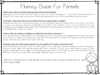 Fluency Guide for Parents: FREEBIE