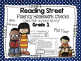 Fluency Homework Grade One Reading Street Full Year