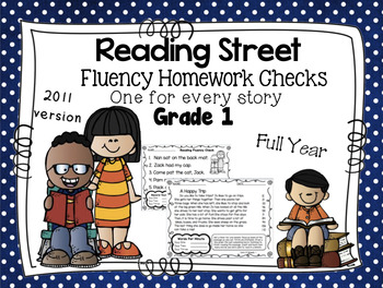 Fluency Homework Grade One Reading Street Full Year