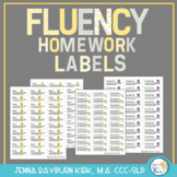Fluency Homework Labels