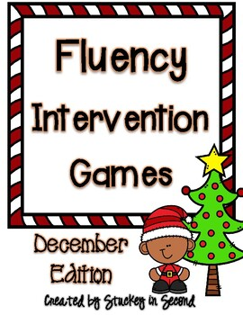 Fluency Intervention Games (December Christmas Edition)