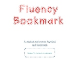 Fluency Is...Bookmark and Handout