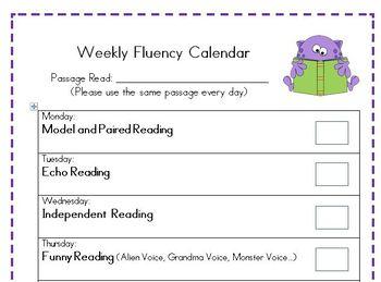 Fluency Letter for Families
