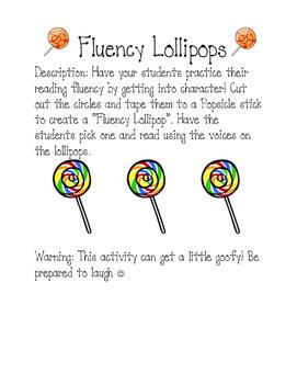 Fluency Lollipops