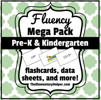 Fluency Mega Pack for Preschool and Kindergarten