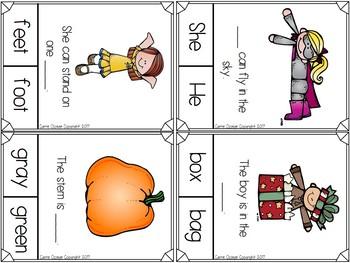 Fluency Missing Word Comprehension Clip Cards