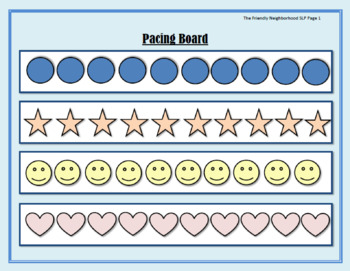 Fluency Pacing Board (Visuals and Worksheets)