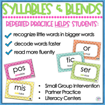 Reading Fluency - Syllables and Blends
