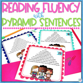 Fluency Practice Pack #3 Pyramid Sentences