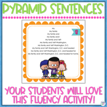 Fluency Practice Pack #3 Pyramid Sentences